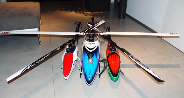 Heli Professional SOXOS 800 neben Alien 600 und Alien 500 myhelishop.at Roland Berghöfer