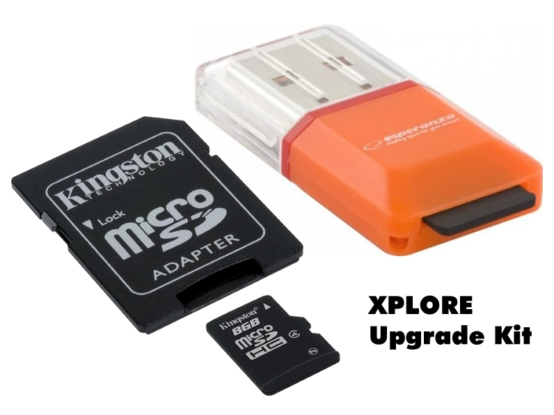 XPLORE Upgrade Kit (MICRO SD-Card Reader + 8 GB Karte)