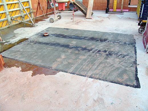Der Platz für den Betonblock unseres Kamins