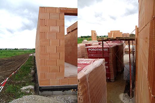 Links: Feuermauer vom Lager / Rechts: ein Blick in den Vorraum