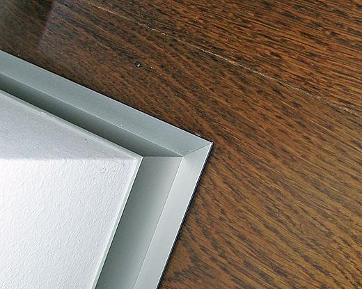 Aluminium Randleisten und Fensteranschluss-Details.
