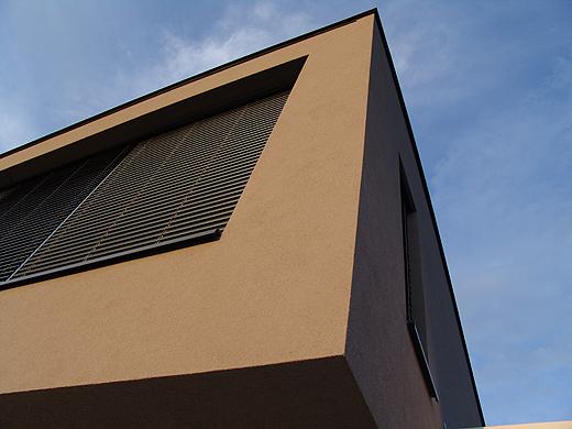 Fassadenfarbe grau braun  WhiteCube – ein modernes Architektenhaus in Wiener Neustadt » Fassade