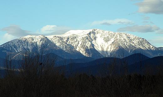 Um 8 Uhr Früh ein toller Blick auf den Schneeberg. Direkt aus unserem Schlafzimmer ...
