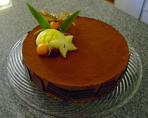 Die fertige Schokoladenmousse-Torte (2003).