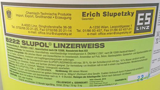 Innenwandfarbe 8222 SLUPOL® Linzerweiss
