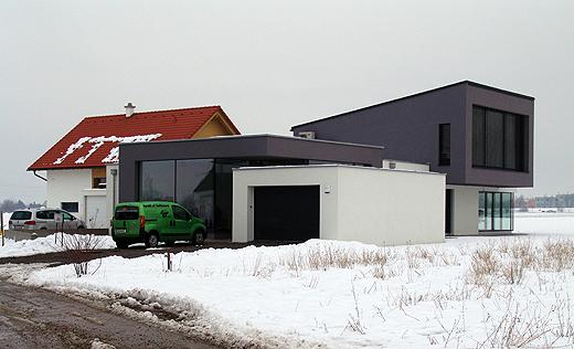 WhiteCube Architektenhaus im Winter
